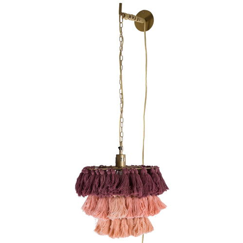 Fela Tassel Wall Pendant - Blush Ombre - Project Nursery