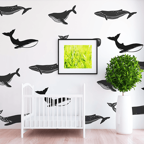 Jackson Whale Wall Decal Set - Project Nursery