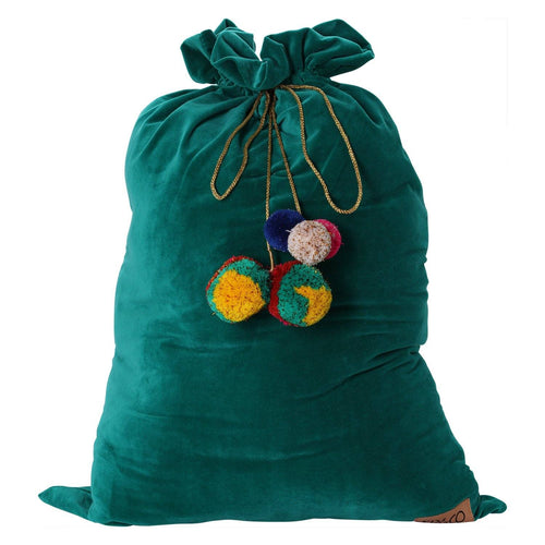Jade Green Velvet Santa Sack - Project Nursery