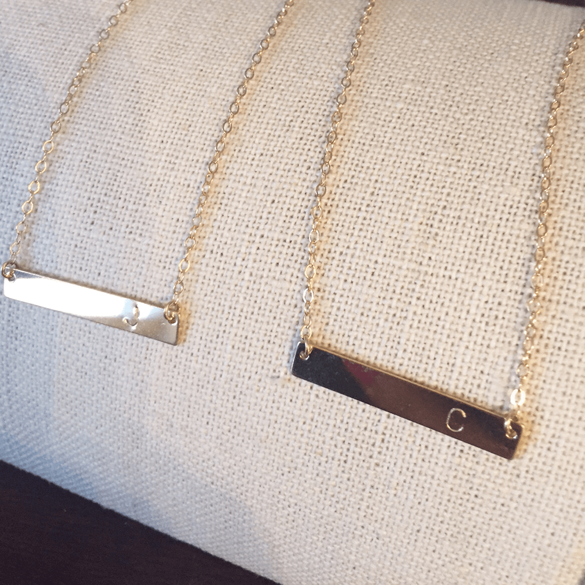 Initial Bar Necklace - Project Nursery