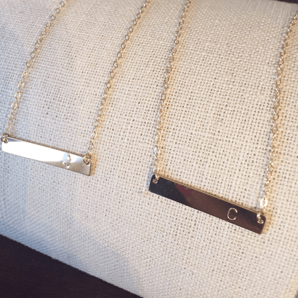 Initial Bar Necklace  - The Project Nursery Shop - 4