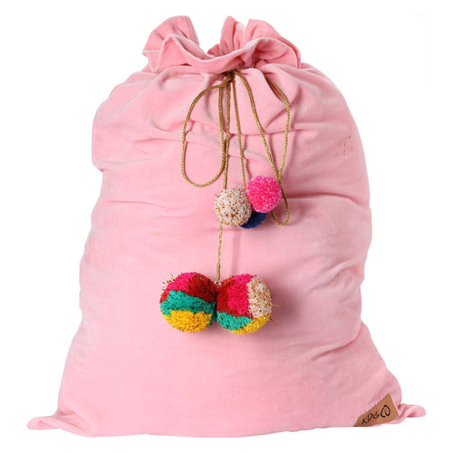 Pink Velvet Santa Sack - Project Nursery