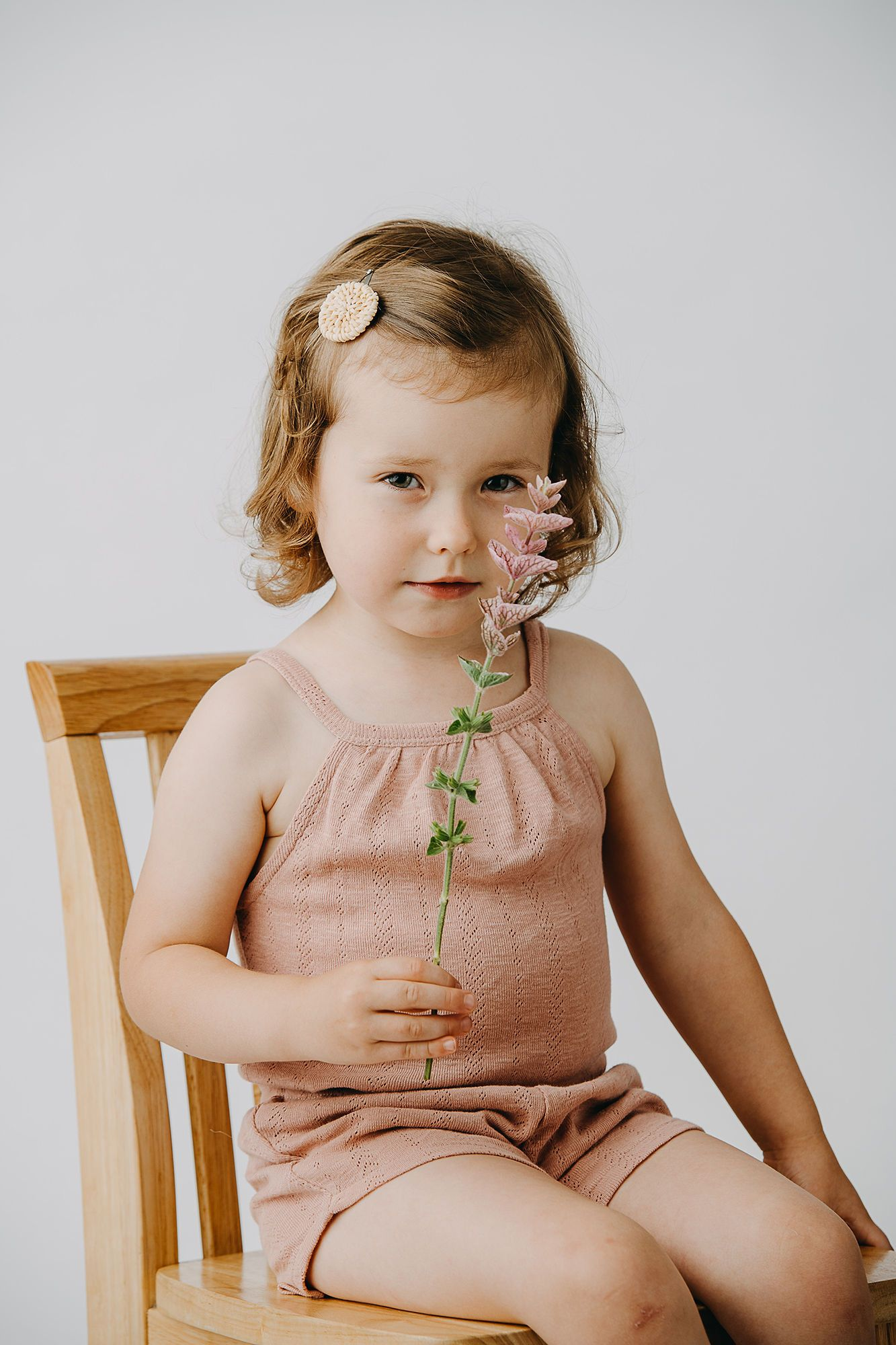 Kids Organic Cotton Pointelle Halter Tank - Mauve - Project Nursery