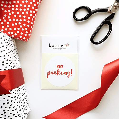 Holiday Gift Labels - No Peeking - Project Nursery