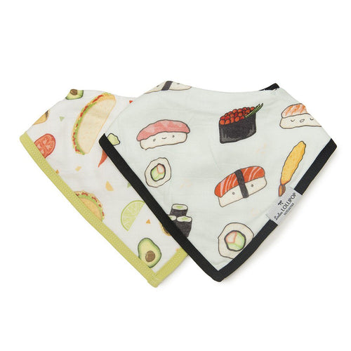 Sushi + Taco  Bandana Bib Set - Project Nursery