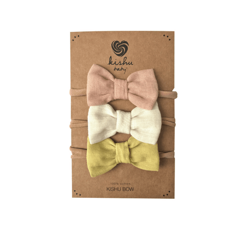 Solid Baby Bow Set - Peach - Project Nursery