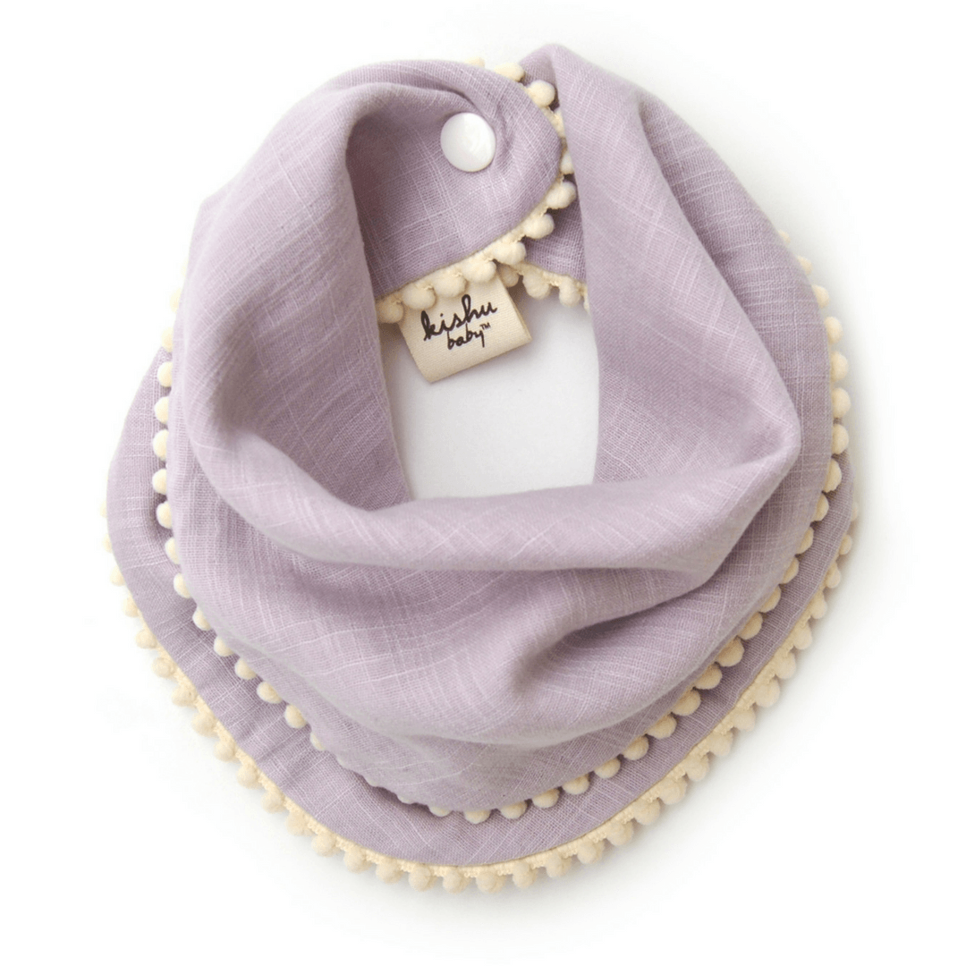 Pom Pom Bib Set - Lavender - Project Nursery