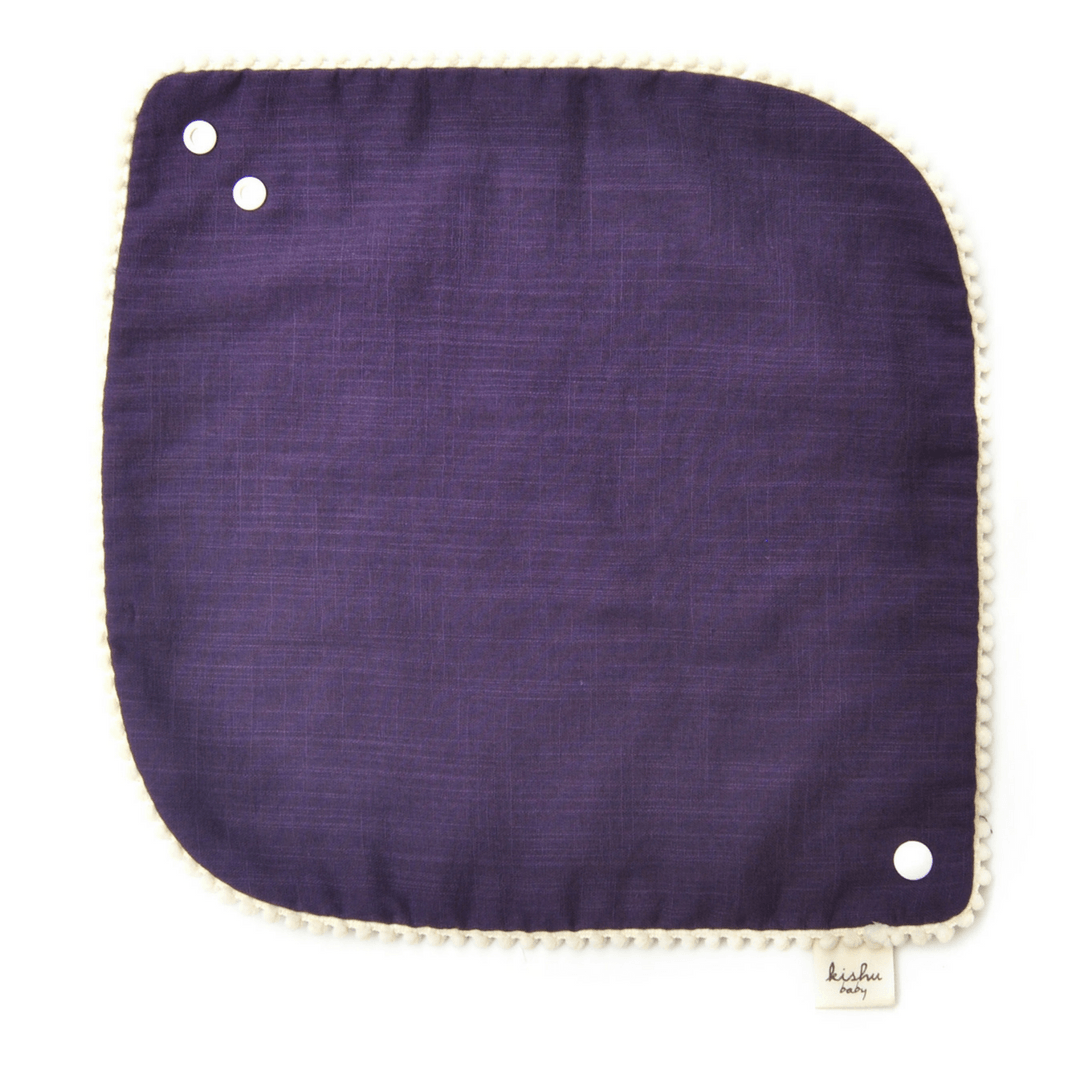 Pom Pom Bib Set - Purple - Project Nursery
