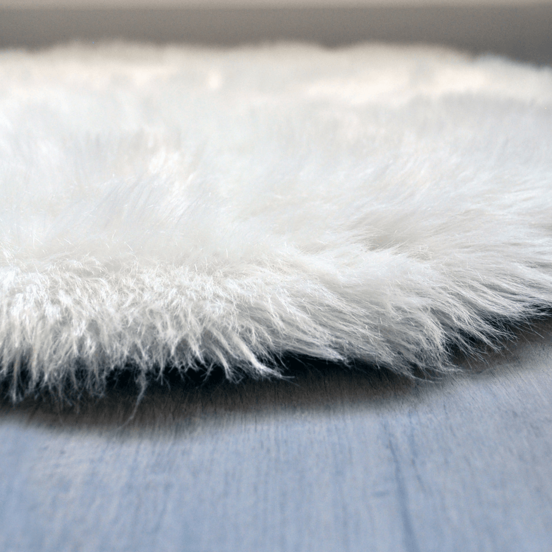 Faux Sheepskin Rectangular Area Rug - Project Nursery