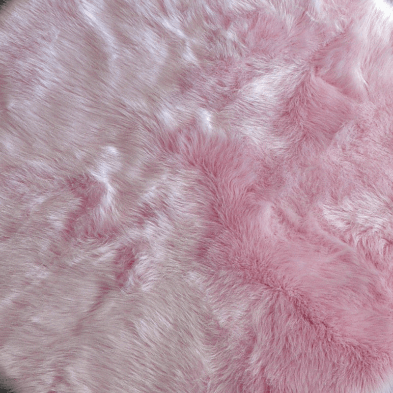 Faux Sheepskin Natural Shape Area Rug - Project Nursery