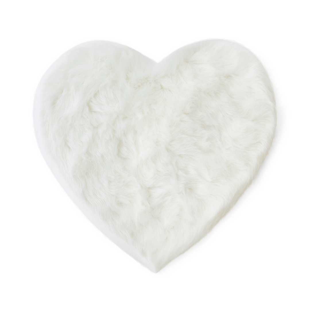 Faux Sheepskin Heart Area Rug - Project Nursery