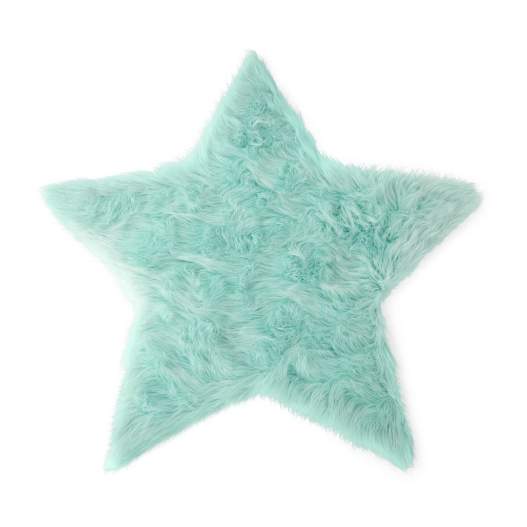 Faux Sheepskin Star Area Rug - Project Nursery