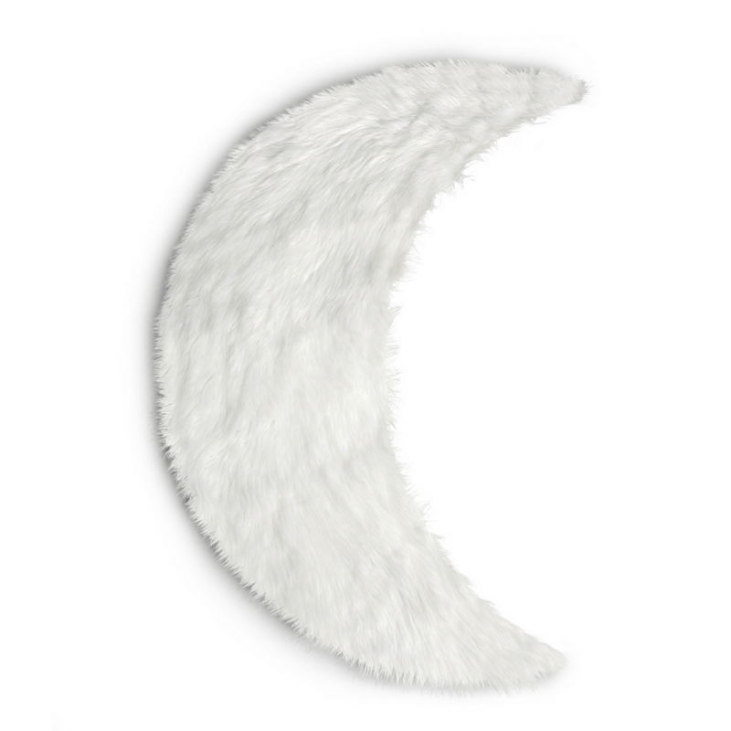 Faux Sheepskin Moon Area Rug - Project Nursery