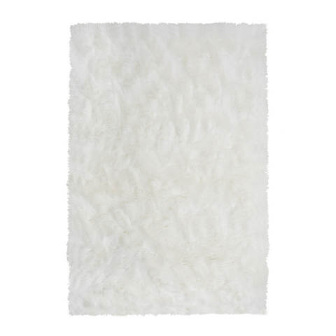 Faux Sheepskin Moon Area Rug