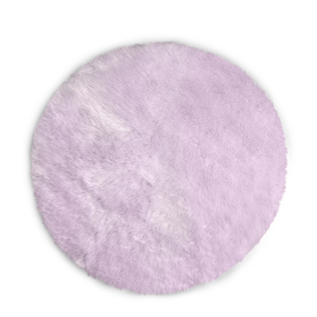 Picture of: Faux Sheepskin Round Area Rug Round Plush Rugs Project Nursery