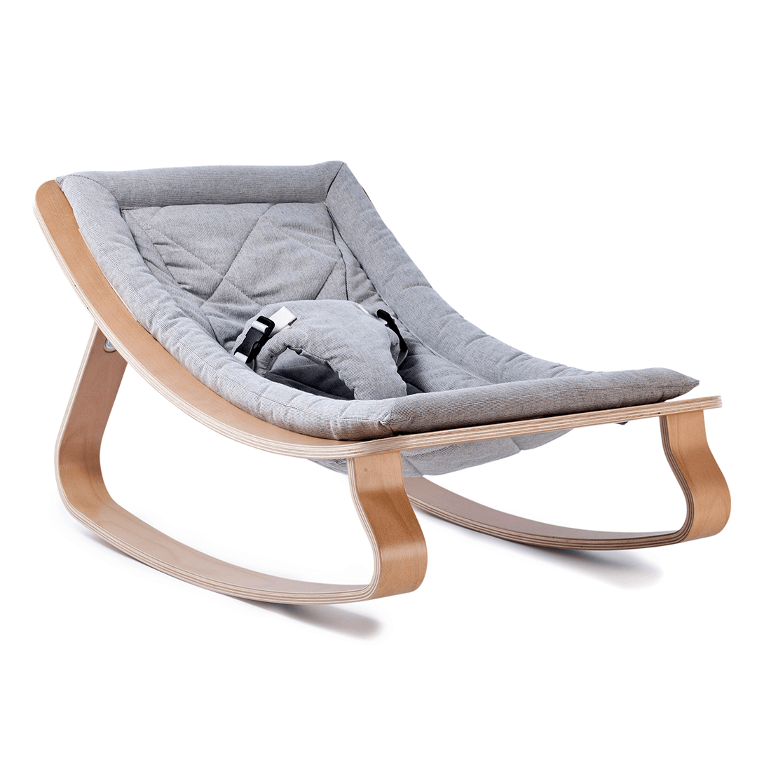 Charlie Crane LEVO Baby Rocker - Beech with Sweet Grey - Project Nursery