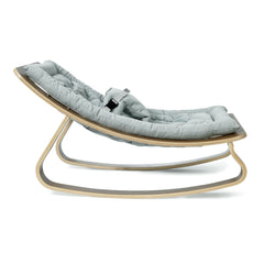 Charlie Crane LEVO Baby Rocker - Walnut with Aruba Blue - Project Nursery