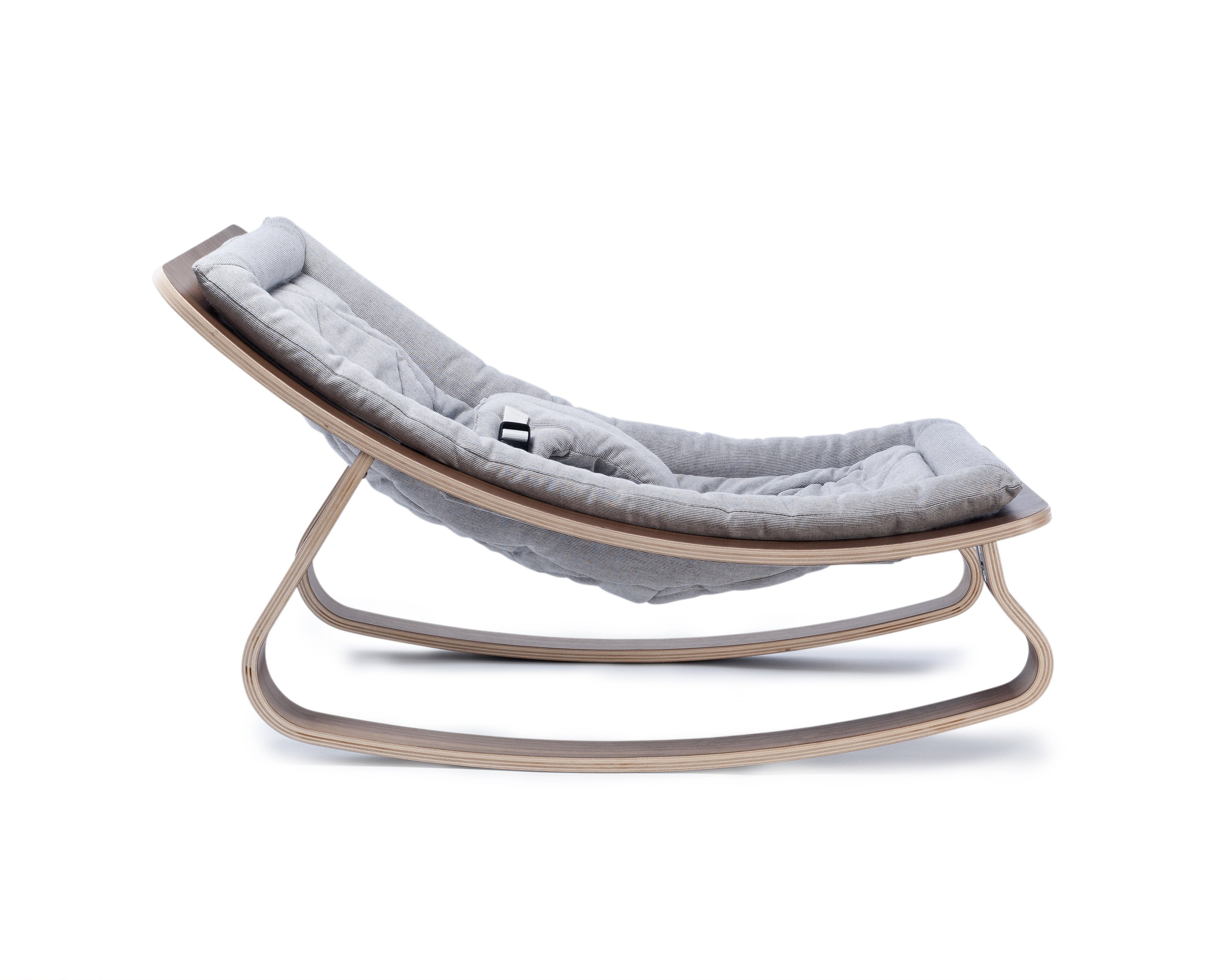 Charlie Crane LEVO Baby Rocker - Walnut with Sweet Gray - Project Nursery