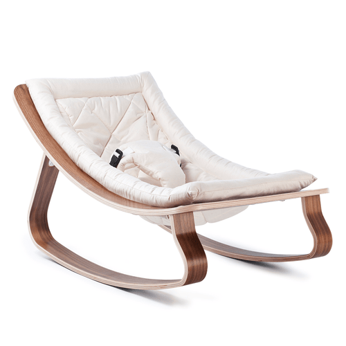 Charlie Crane LEVO Baby Rocker - Walnut with Gentle White - Project Nursery