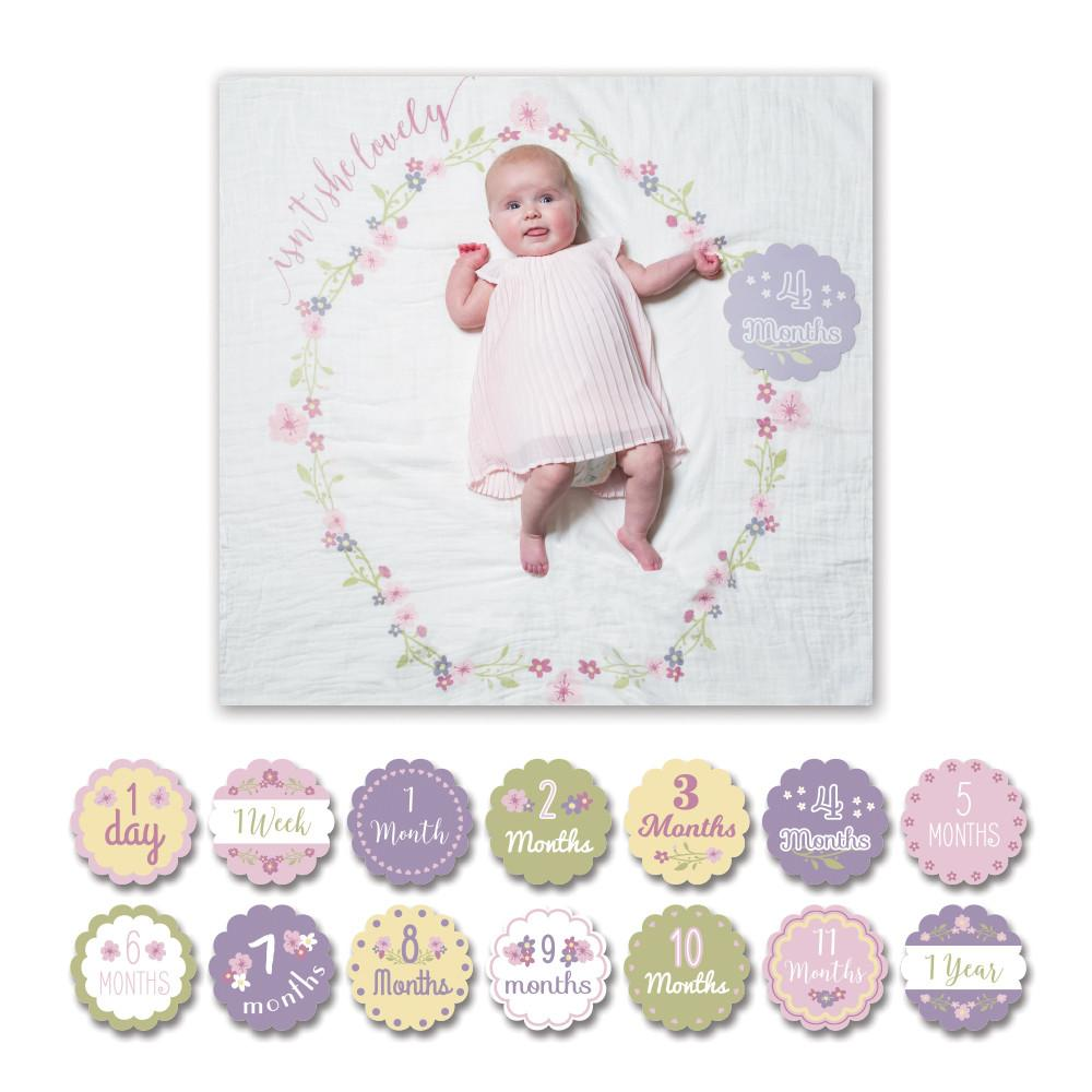 Isn't She Lovely Milestone Blanket & Card Set  - The Project Nursery Shop - 2
