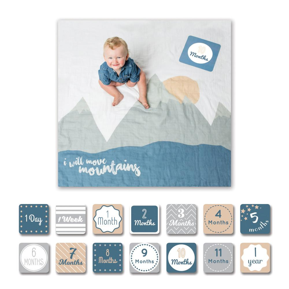 I Will Move Mountains Milestone Blanket & Card Set  - The Project Nursery Shop - 2