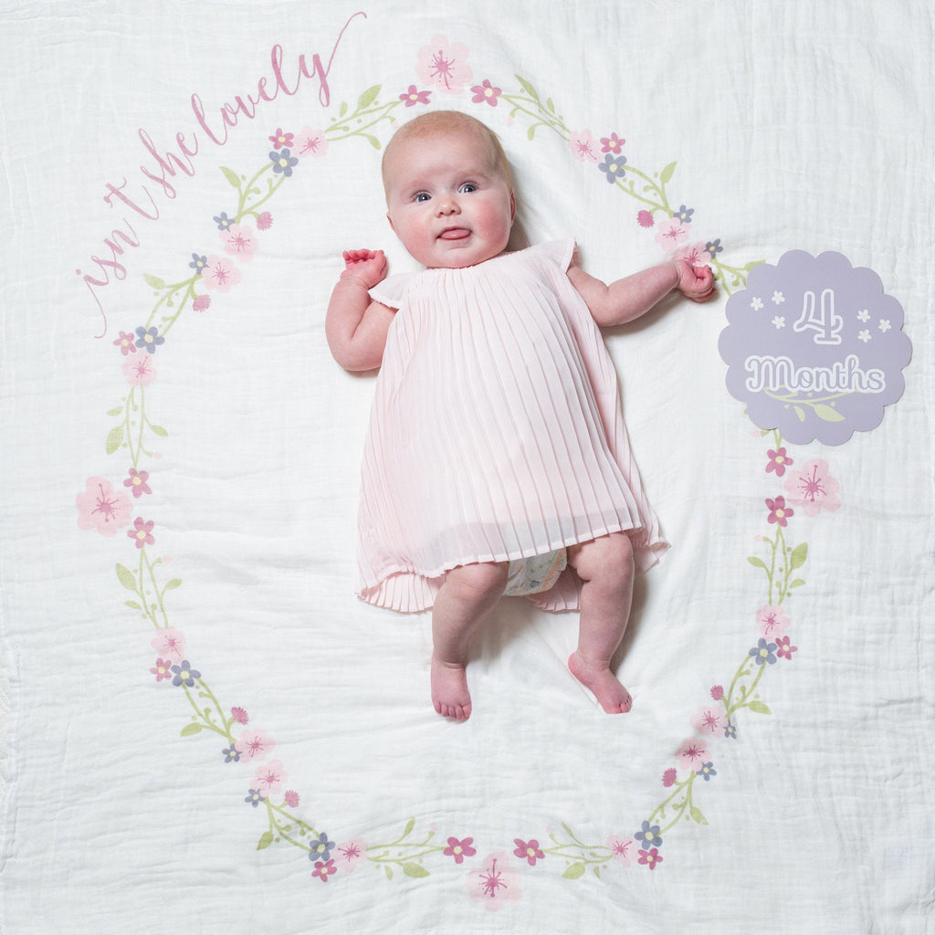 Isn't She Lovely Milestone Blanket & Card Set  - The Project Nursery Shop - 6