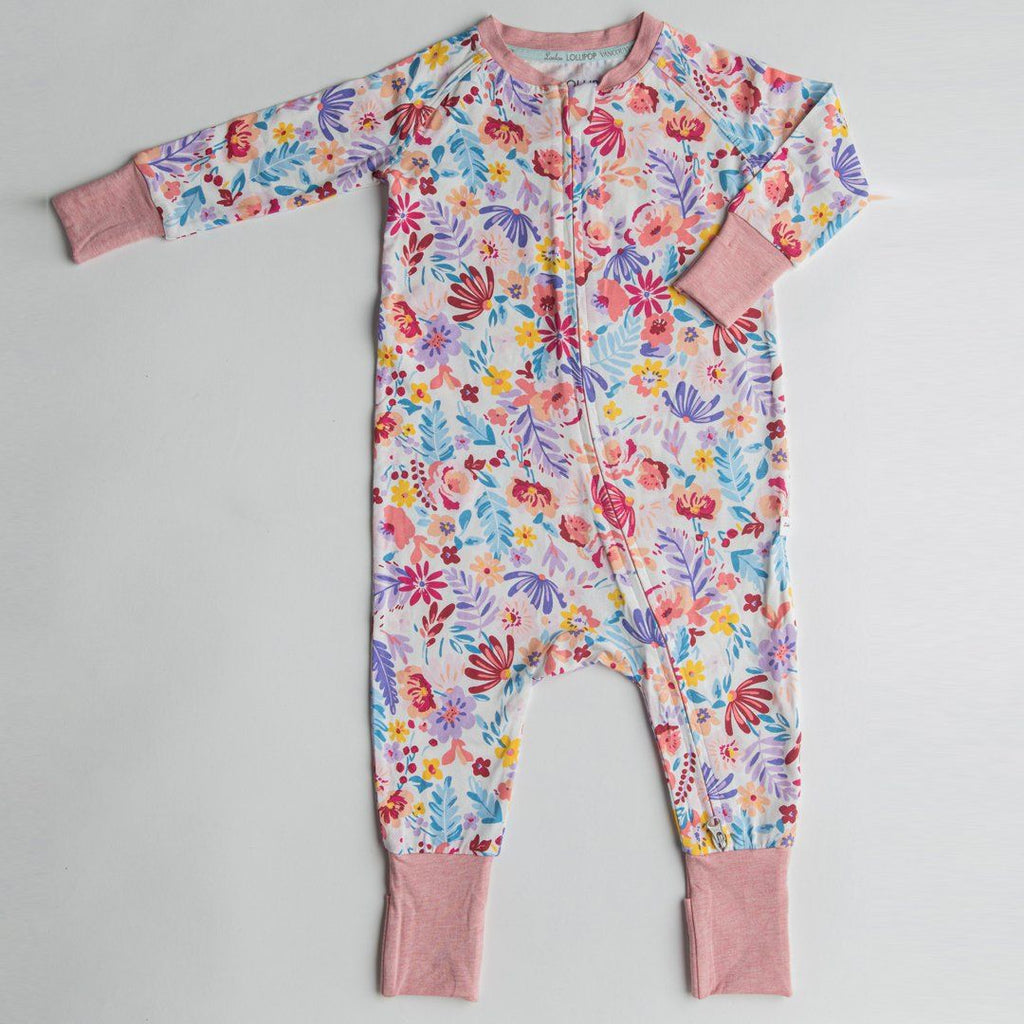 Light Field Flowers Romper - Project Nursery
