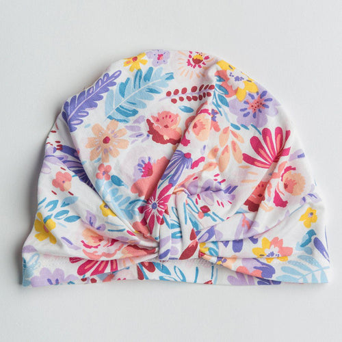 Light Field Floral Turban - Project Nursery