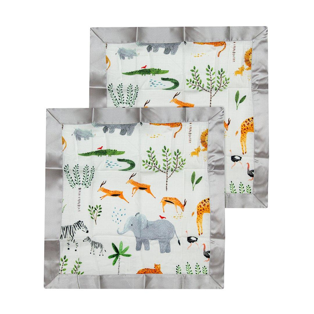Safari Jungle Security Blanket - 2 pack - Project Nursery