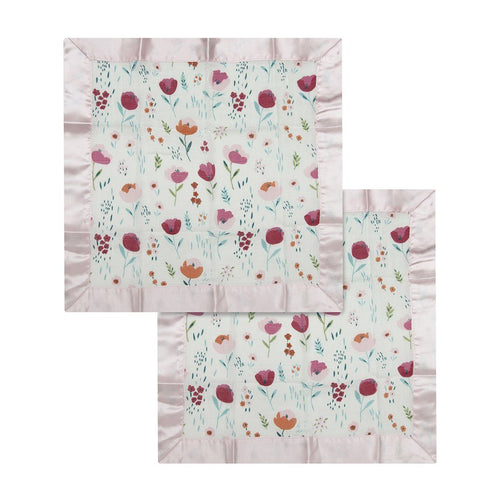 Rosey Bloom Security Blankets - 2 pack - Project Nursery