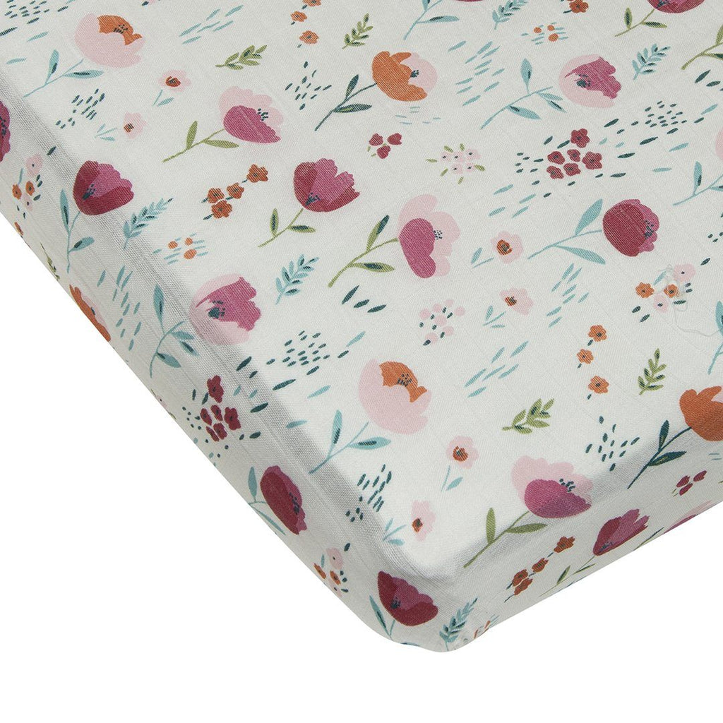 Rosey Bloom Crib Sheet - Project Nursery