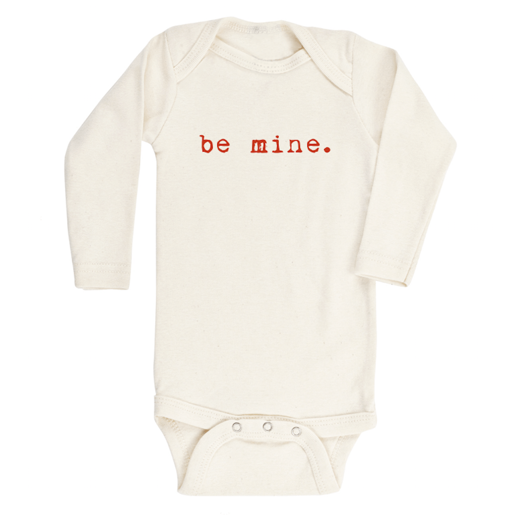 Be Mine Longsleeve Organic Bodysuit - Project Nursery