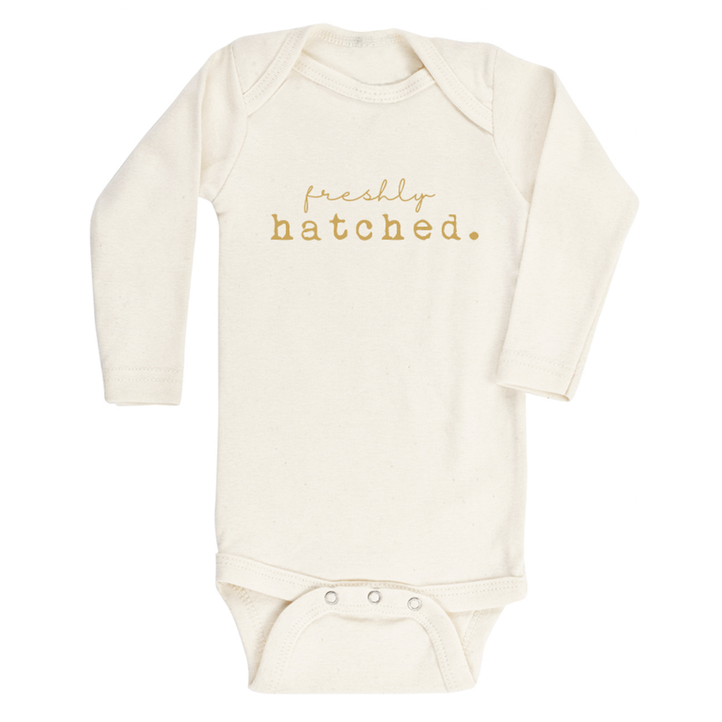 Freshly Hatched Longsleeve Organic Bodysuit - Project Nursery