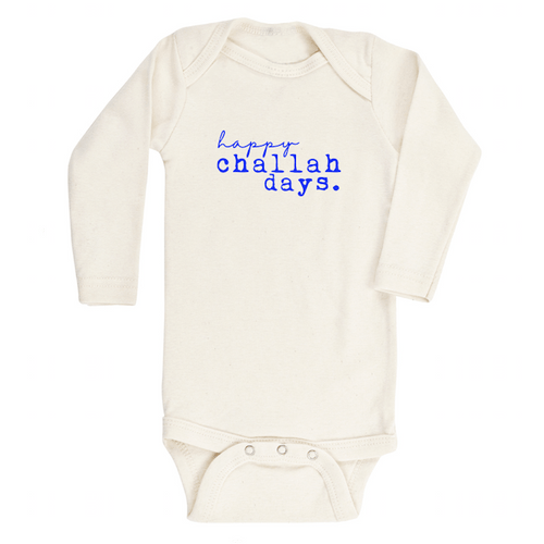 Happy Challah Days Longsleeve Organic Bodysuit - Project Nursery