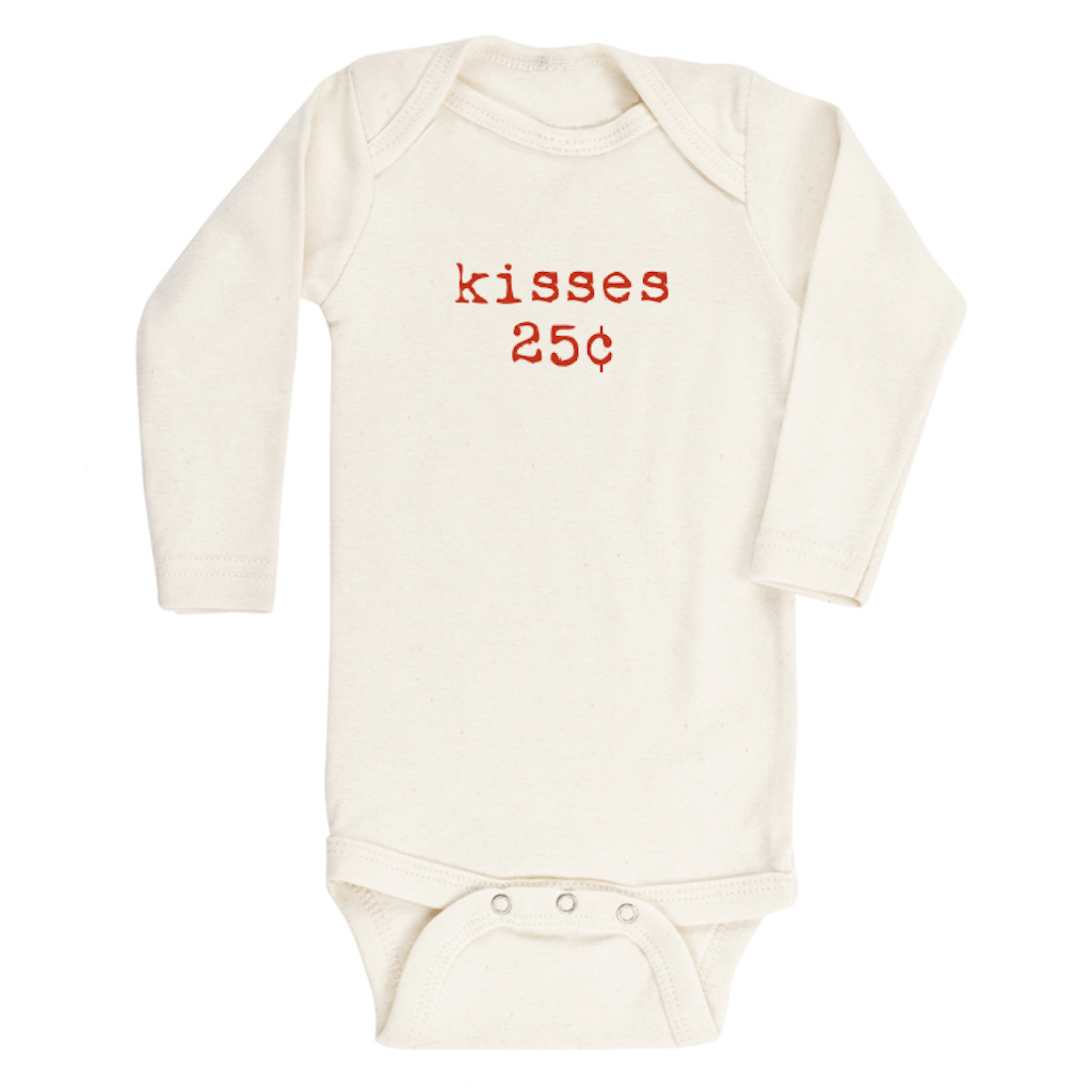 Kisses Longsleeve Organic Bodysuit & Tee - Project Nursery