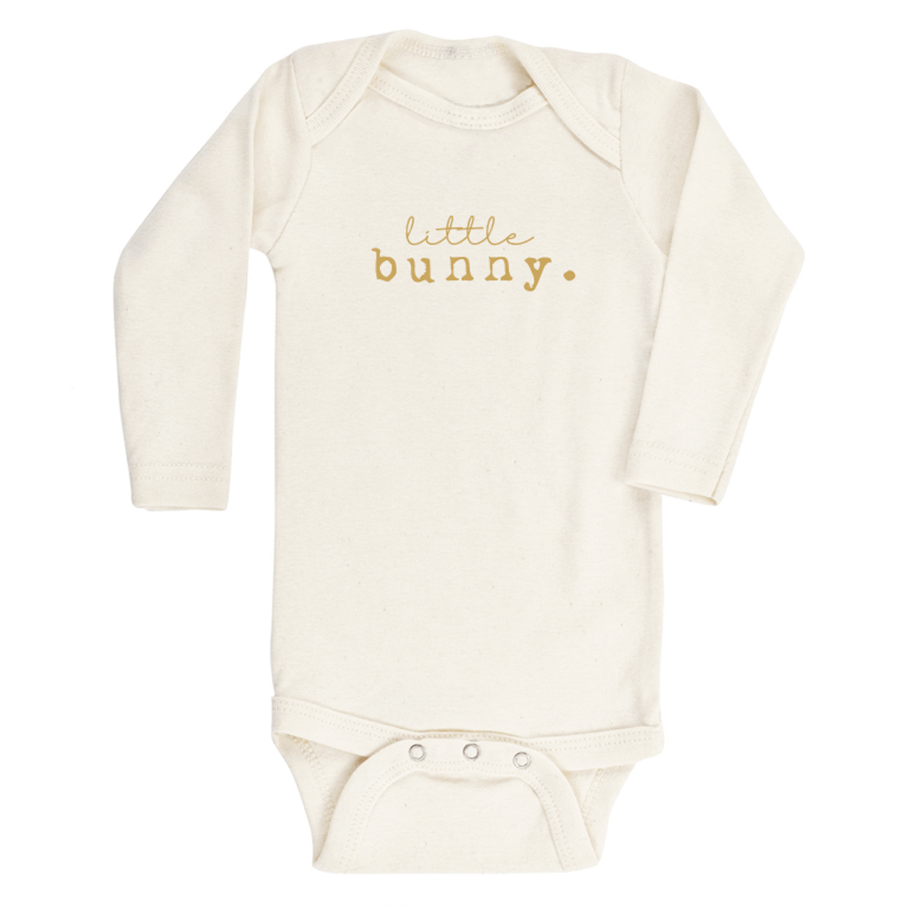 Little Bunny Longsleeve Organic Bodysuit - Project Nursery