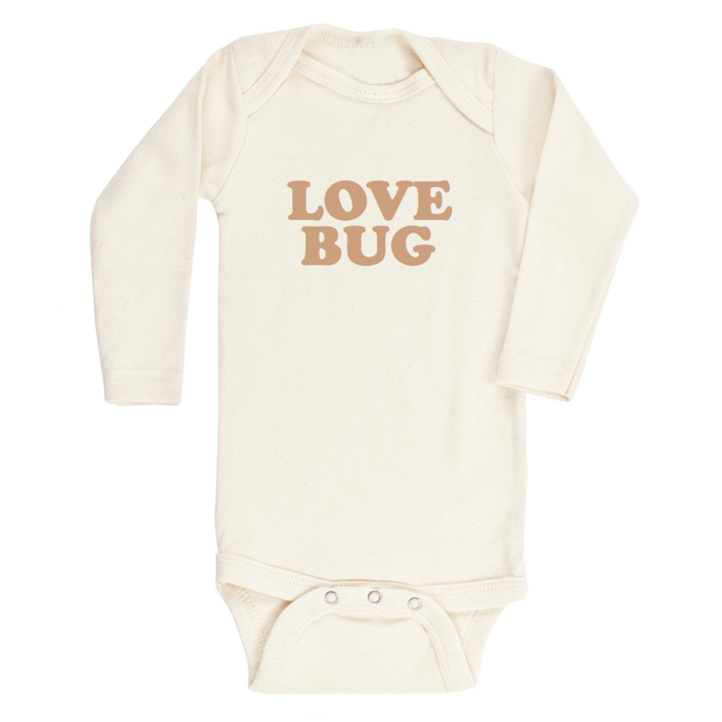 Love Bug Longsleeve Organic Bodysuit - Clay - Project Nursery