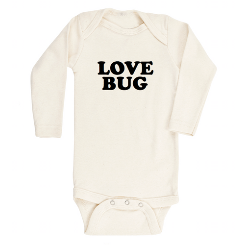 Love Bug Longsleeve Organic Bodysuit - Project Nursery