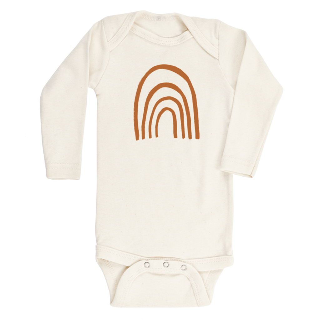 Rust Rainbow Lovesleeve Organic Bodysuit - Project Nursery