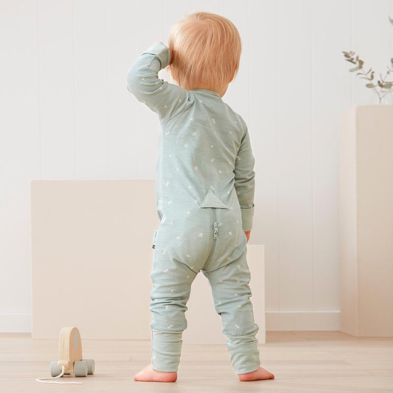 Sage Long-Sleeve Zippered Romper - Project Nursery