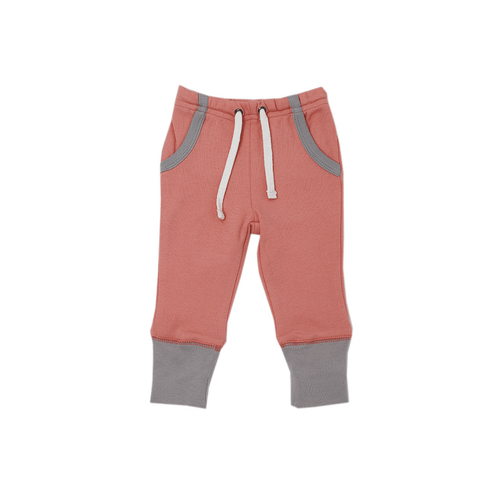 Organic Jogger Pants - Coral - Project Nursery
