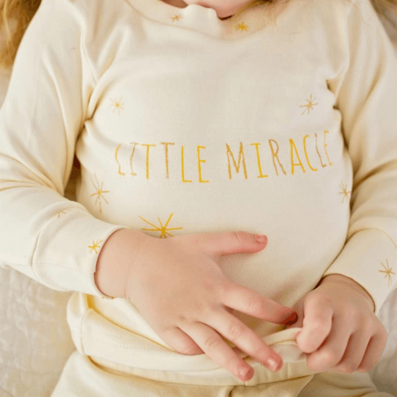 Organic Kids Long Sleeve PJ & Cap Set - Gold Miracle - Project Nursery