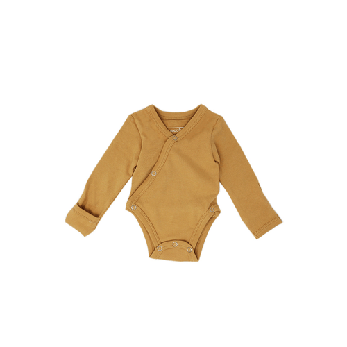 Organic Kimono Bodysuit - Honey - Project Nursery