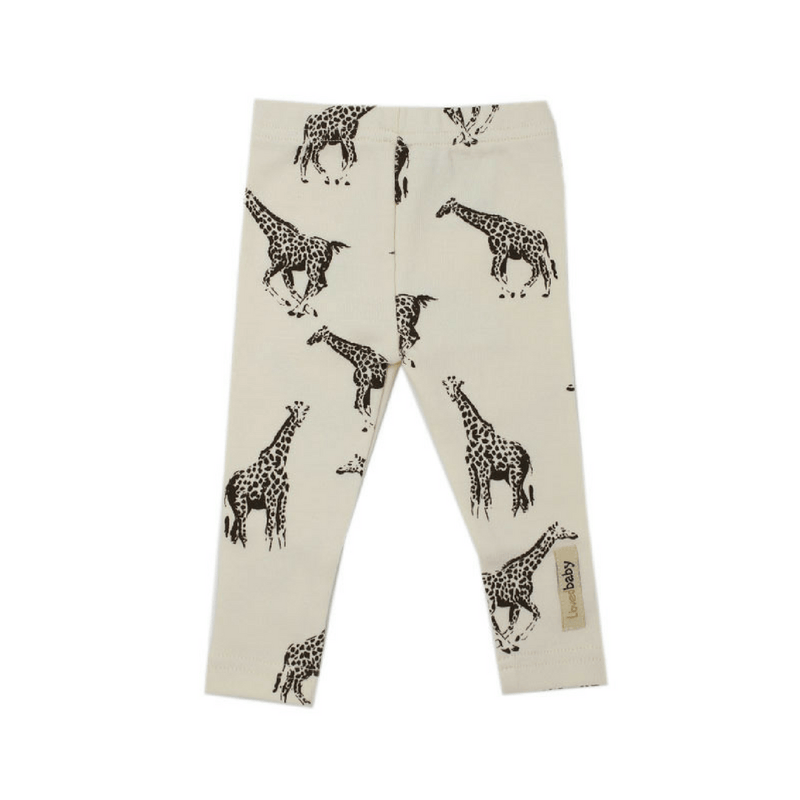 Organic Beige Giraffe Leggings - Project Nursery