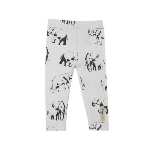 Organic White Elephant Leggings - Project Nursery