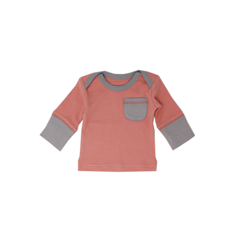 Organic Long Sleeve Shirt - Coral - Project Nursery