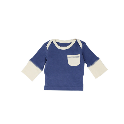 Organic Long Sleeve Shirt - Slate - Project Nursery