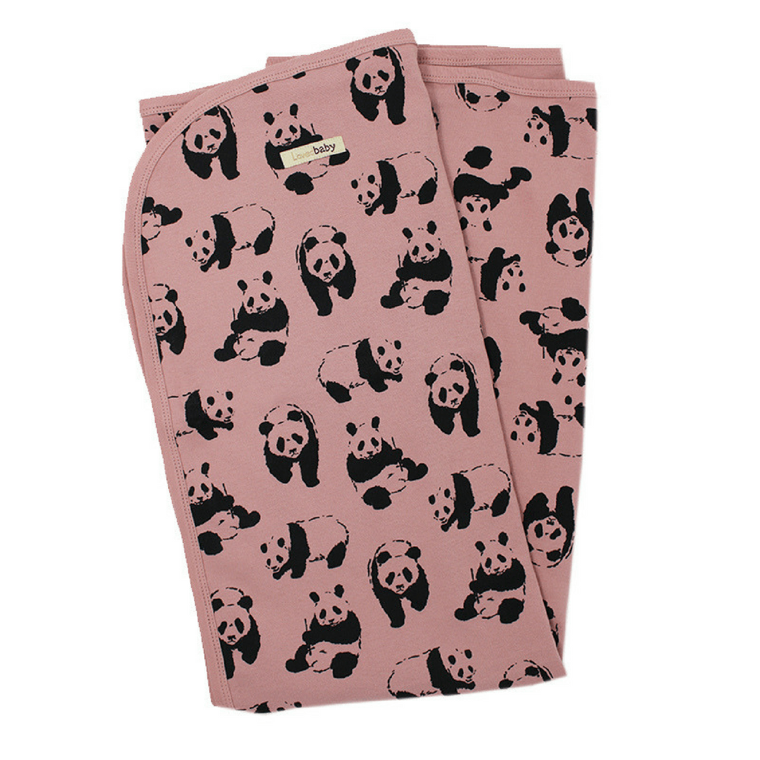 Organic Panda Swaddle Blanket - Project Nursery