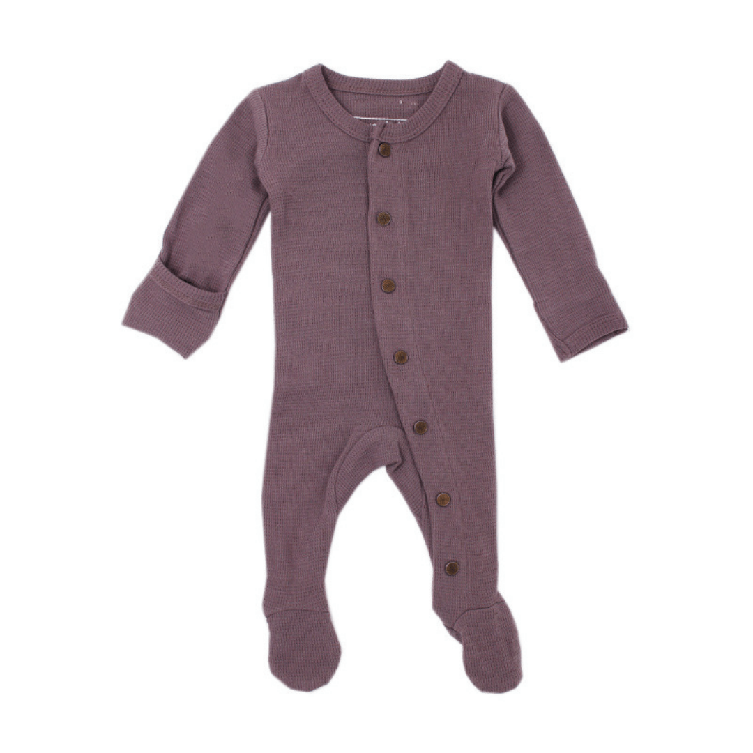 Organic Thermal Footed Overall - Amethyst - Project Nursery