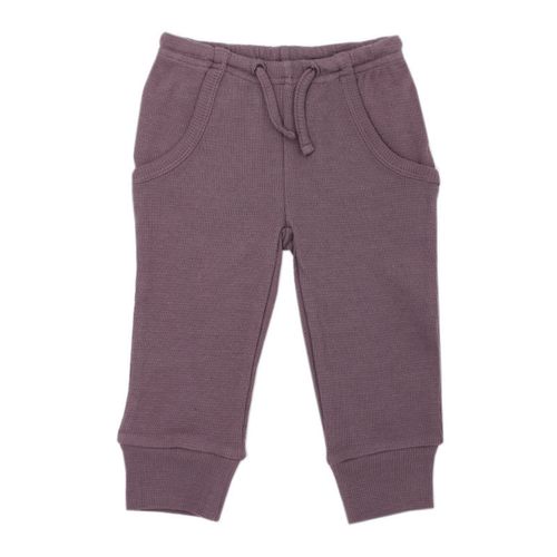Organic Thermal Kids Jogger Pants - Amethyst - Project Nursery